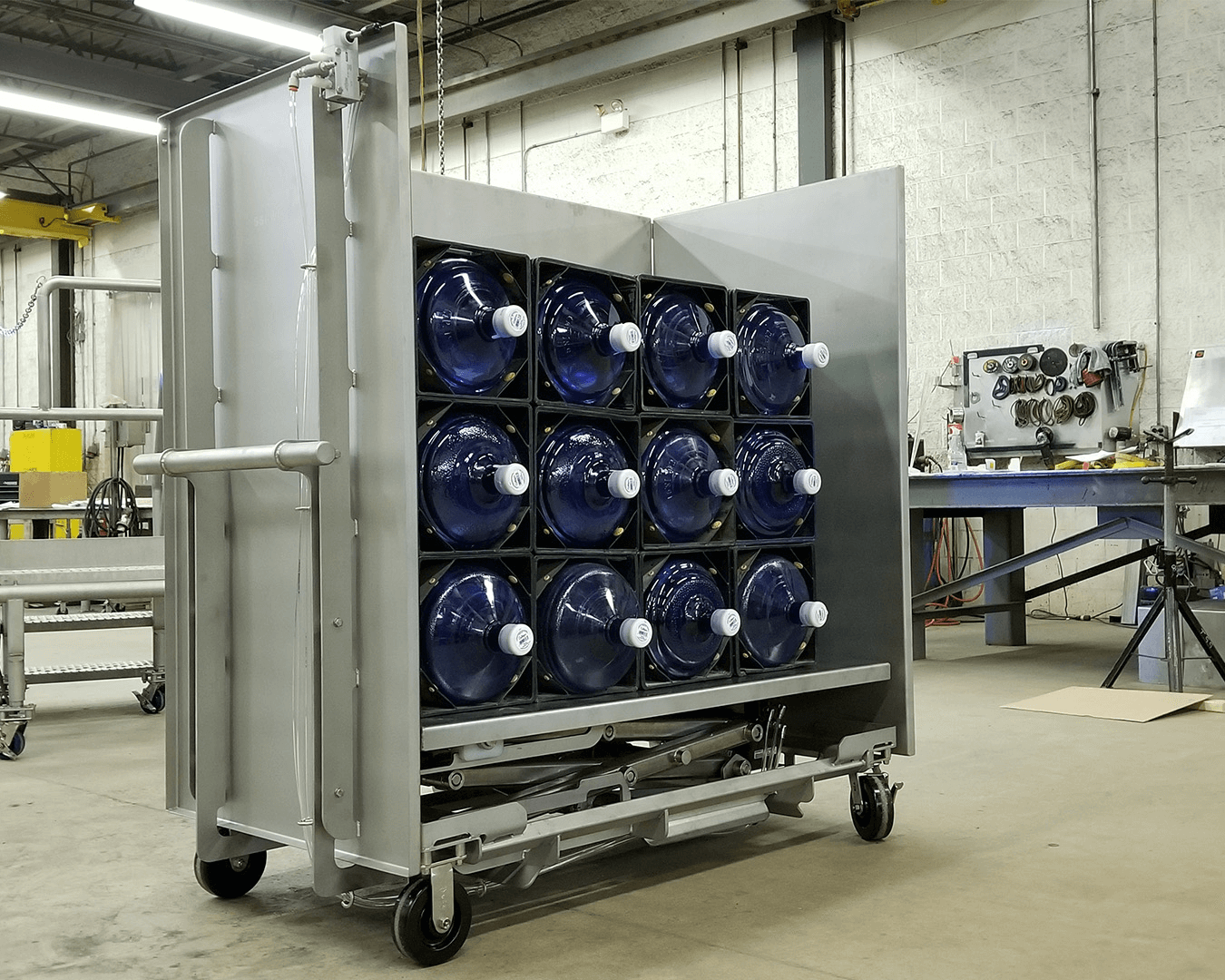 stainless lift cart