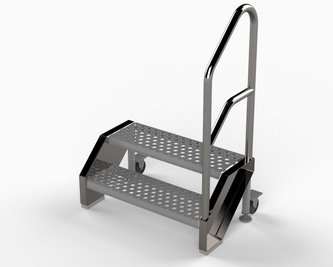 stainless rolling access platform
